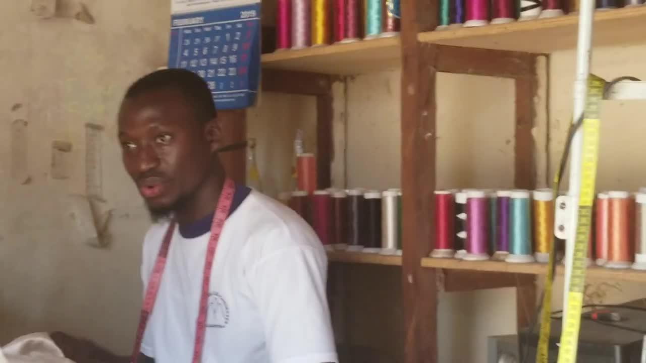 Inspiring word from a young tailor in The Gambia