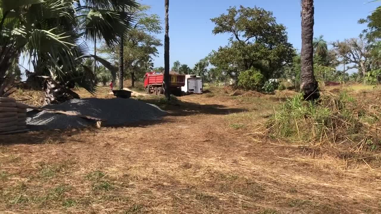 More sand has arrived to resume building our 4000 sqft home (5bdrms, 3.5 baths)