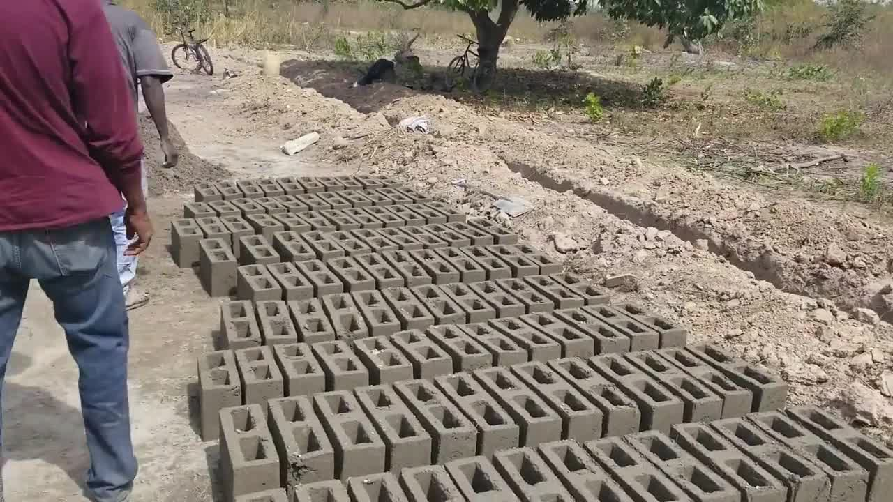 Beginning the blocks in  The Gambia