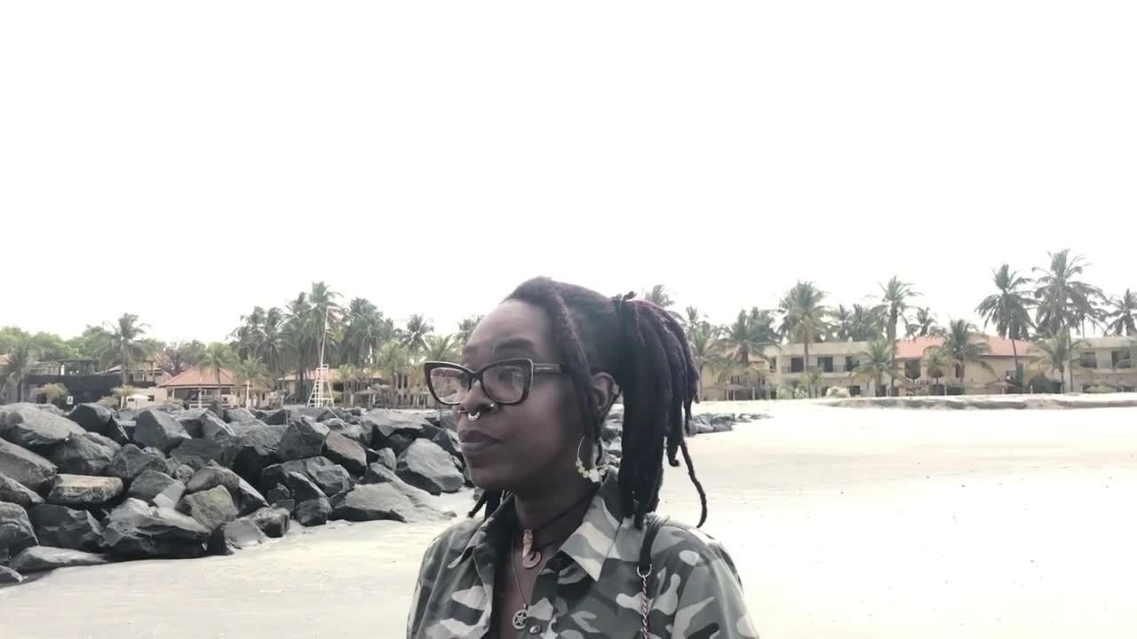 Relaxing on beach after moving in The Gambia