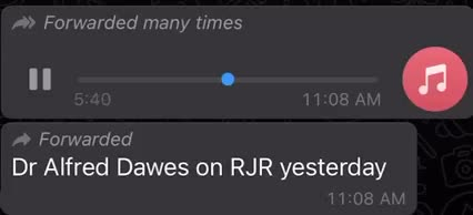 Please Listen to Dr Alfred Dawes and Make Informed Decisions